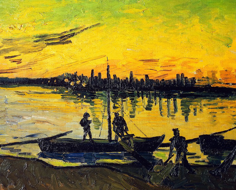 Coal Barges. Vincent van Gogh