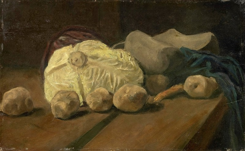 Still Life with Cabbage and Clogs. Vincent van Gogh