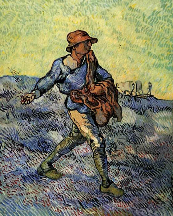 The Sower (after Millet). Vincent van Gogh
