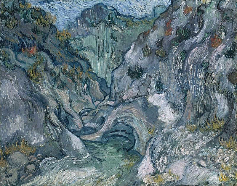 A Path through a Ravine. Vincent van Gogh