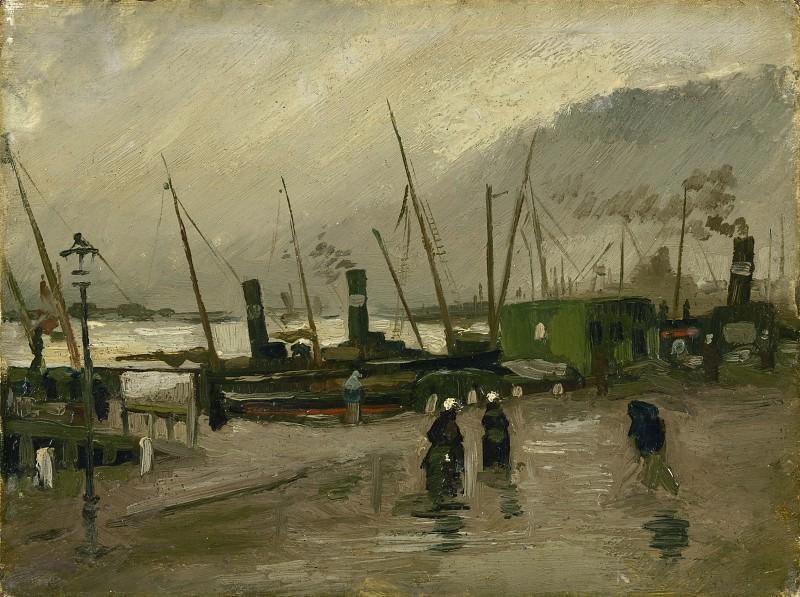 The De Ruijterkade in Amsterdam. Vincent van Gogh