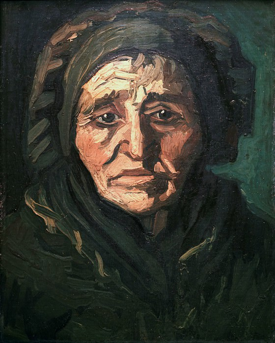 Head of a Peasant Woman with a Greenish Lace Cap. Vincent van Gogh