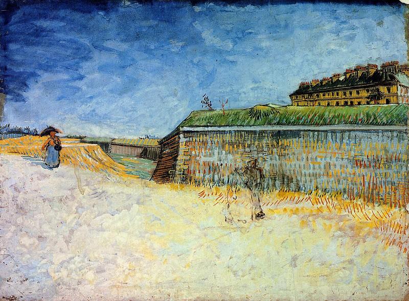 The Ramparts of Paris. Vincent van Gogh