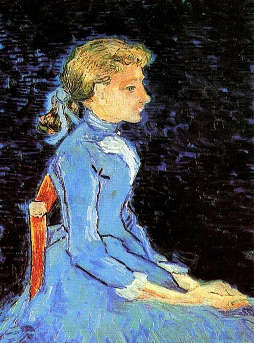Portrait of Adeline Ravoux. Vincent van Gogh