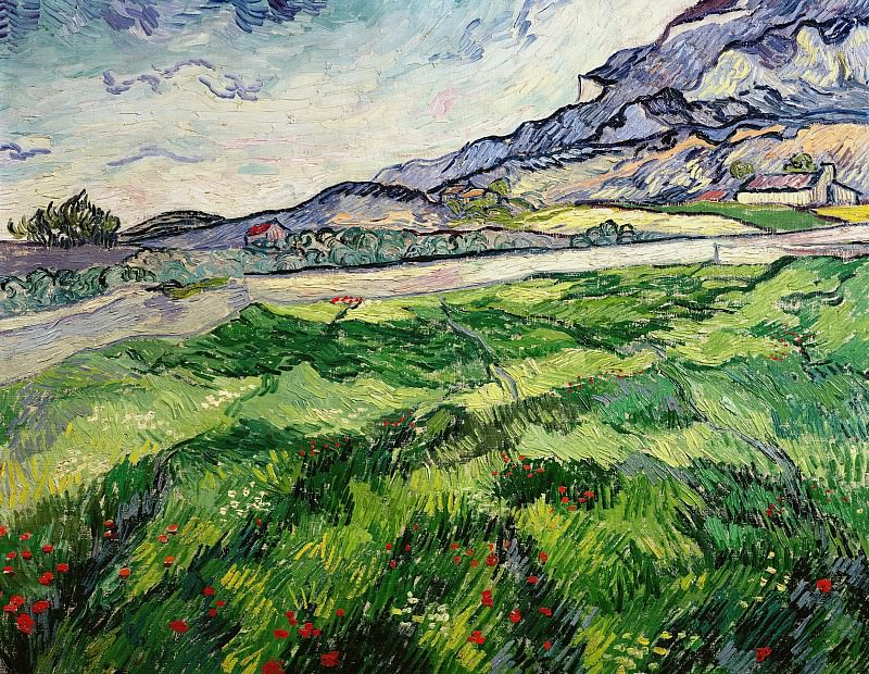 Green Wheat Field. Vincent van Gogh