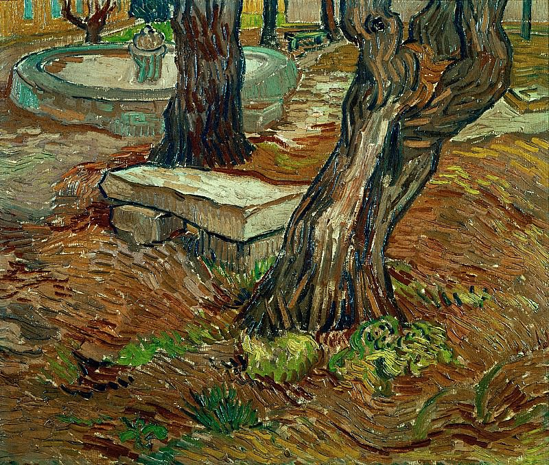 The Stone Bench in the Garden of Saint-Paul Hospital. Vincent van Gogh