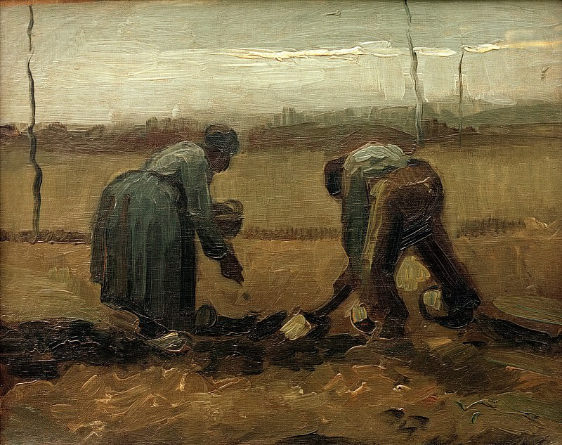 Peasants Planting Potatoes. Vincent van Gogh