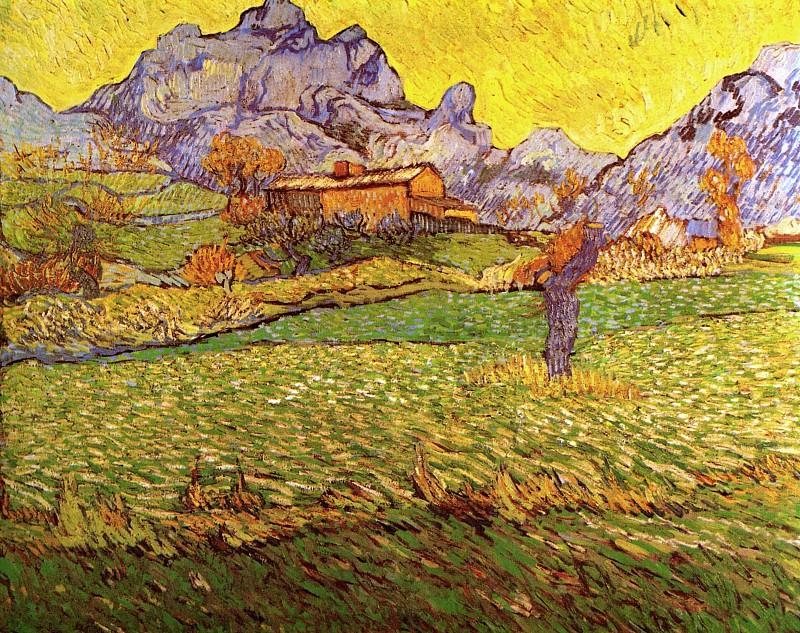 A Meadow in the Mountains: Le Mas de Saint-Paul. Vincent van Gogh