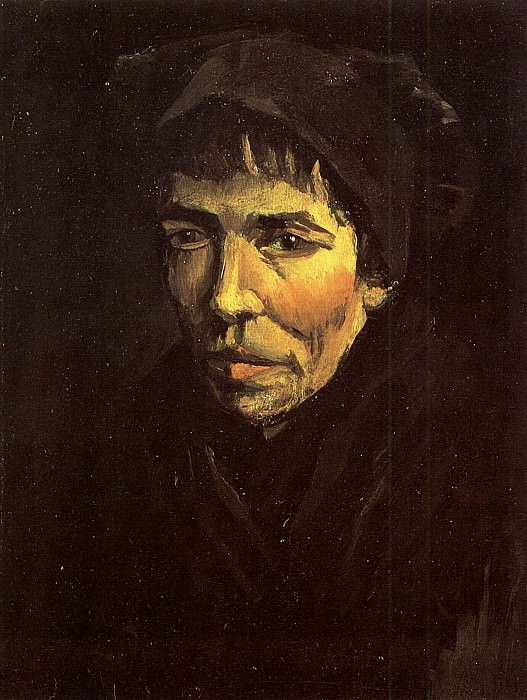 Head of a Peasant Woman with Dark Cap. Vincent van Gogh