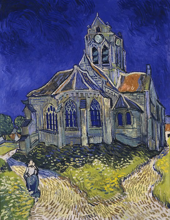 Church at Auvers. Vincent van Gogh
