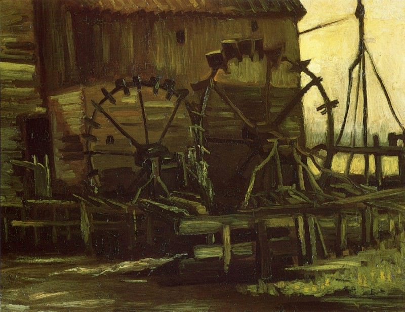 Water Mill at Gennep. Vincent van Gogh