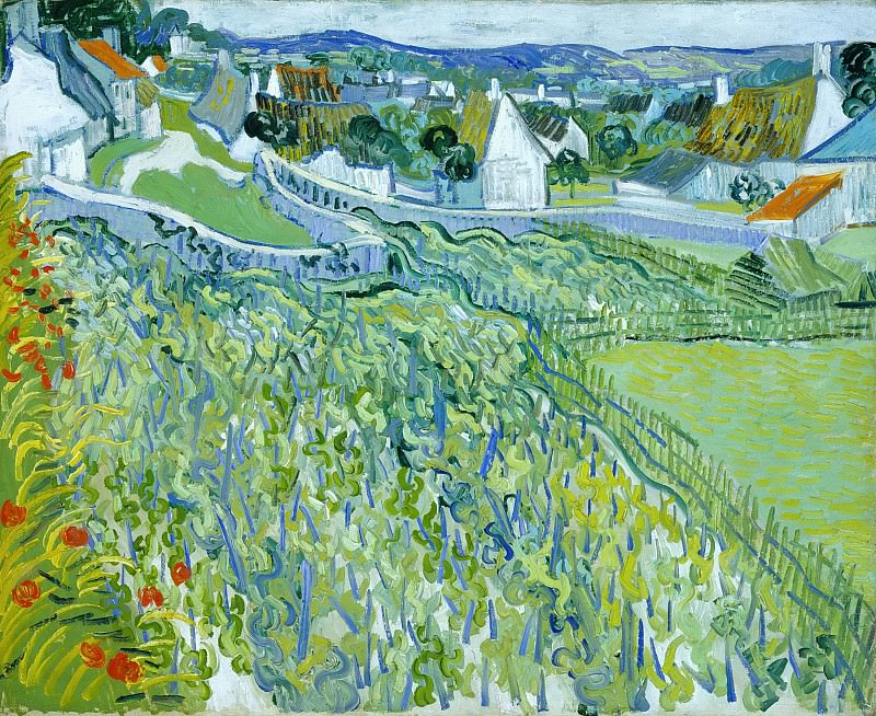 Vineyards with a View of Auvers. Vincent van Gogh