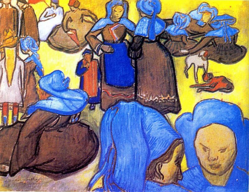 Breton Woman. Vincent van Gogh