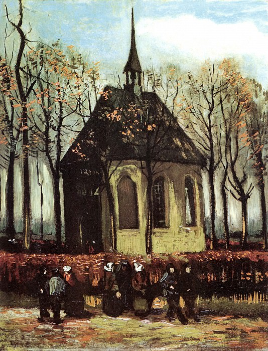 Chapel at Nuenen. Vincent van Gogh