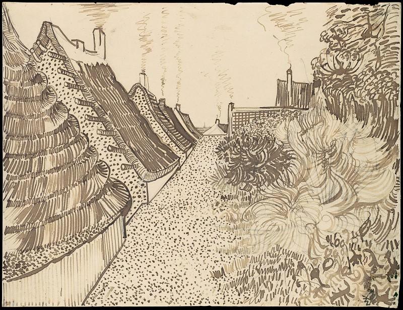 Street in Sainte-Maries. Vincent van Gogh