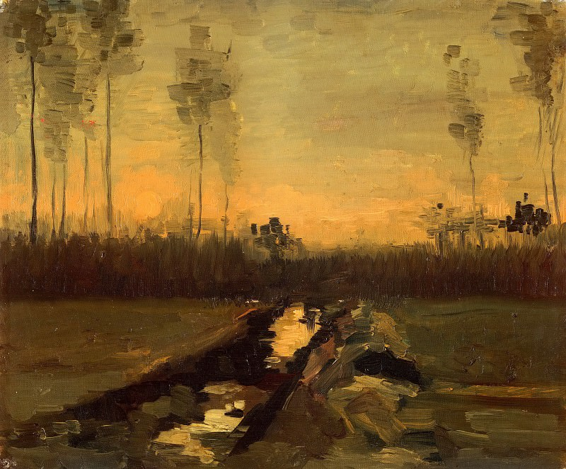 Landscape at Dusk. Vincent van Gogh