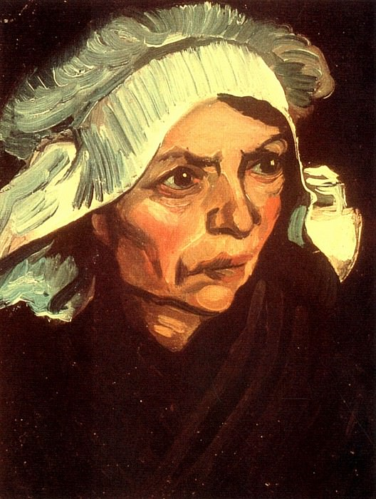 Head of a Peasant Woman with White Cap. Vincent van Gogh