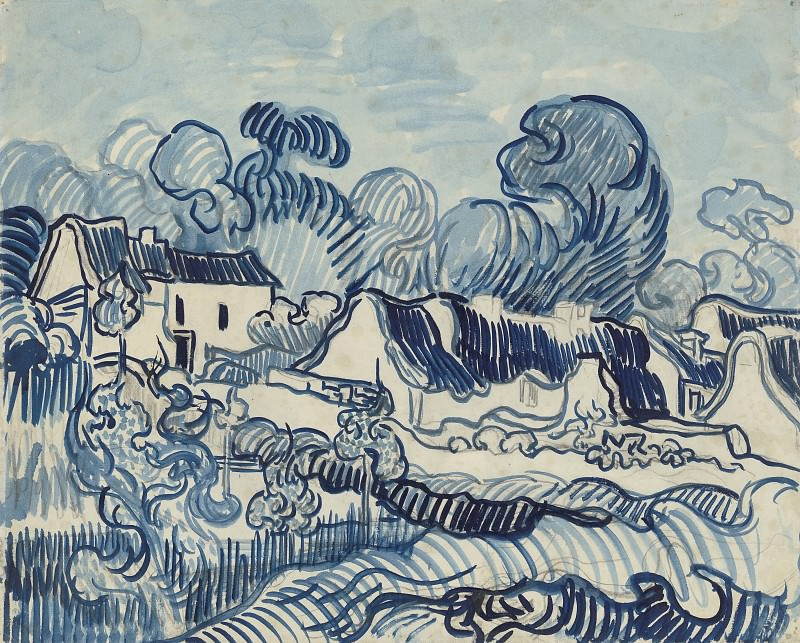 Landscape with Cottages. Vincent van Gogh