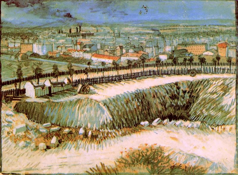 Outskirts of Paris near Montmartre. Vincent van Gogh