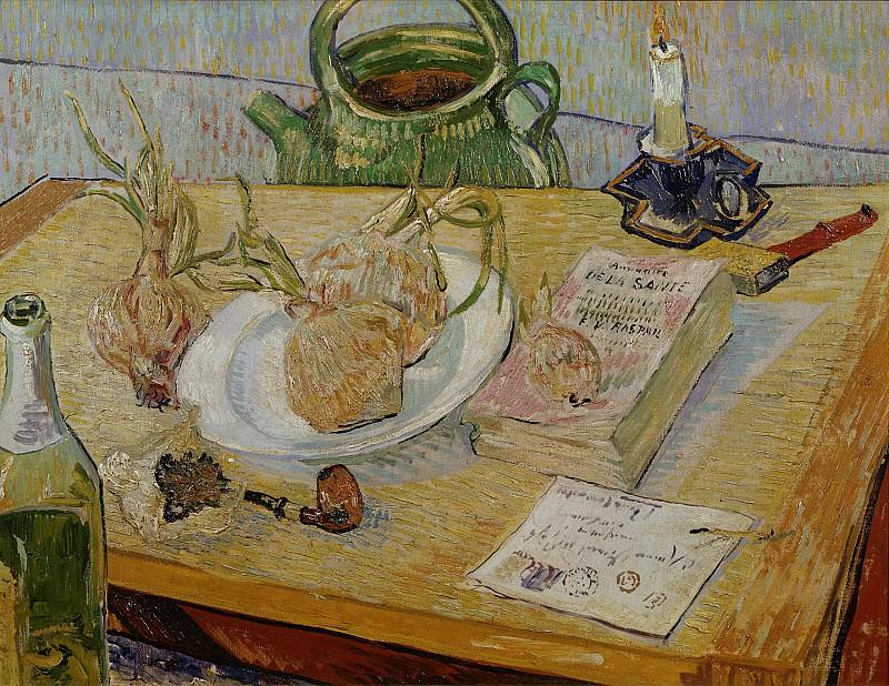 Луковицы и трубка на письменном столе. Винсент Ван Гог