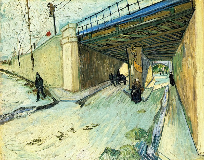 The Railway Bridge over Avenue Montmajour. Vincent van Gogh