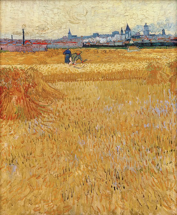 Arles View from the Wheat Fields. Vincent van Gogh