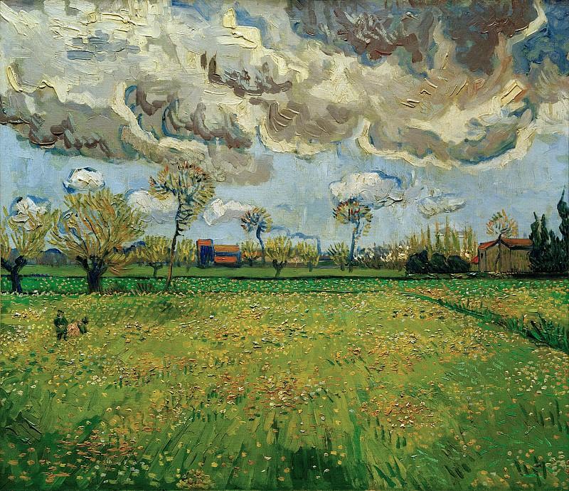 Landscape Under a Stormy Sky. Vincent van Gogh