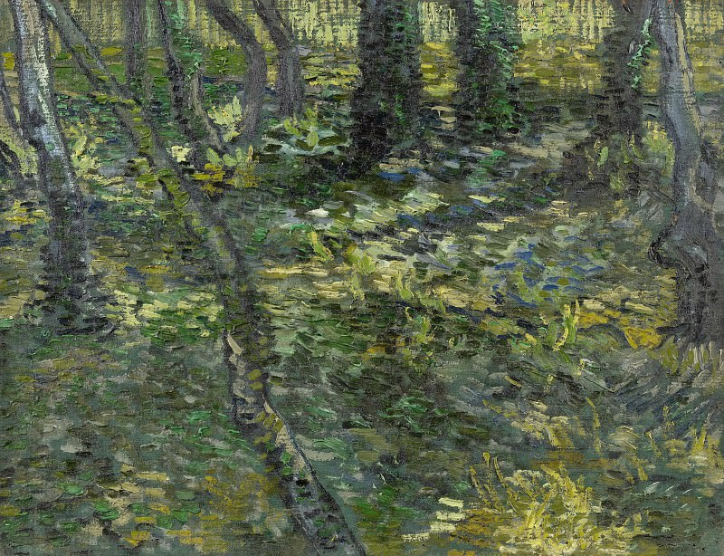 Undergrowth with Ivy. Vincent van Gogh