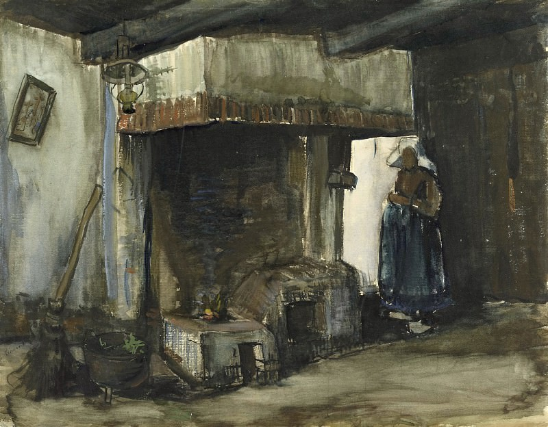 Woman by a Hearth. Vincent van Gogh