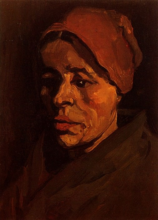 Head of a Peasant Woman with Brownish Cap. Vincent van Gogh