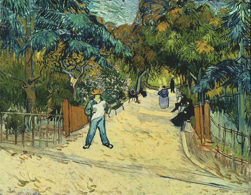 Entrance to the Public Park in Arles. Vincent van Gogh