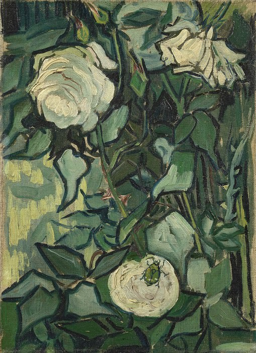 Roses and Beetle. Vincent van Gogh