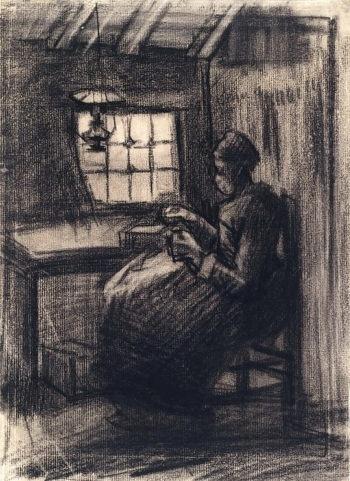 Woman Sewing. Vincent van Gogh
