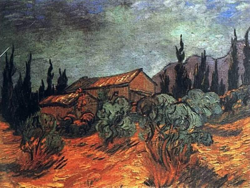 Wooden Sheds. Vincent van Gogh