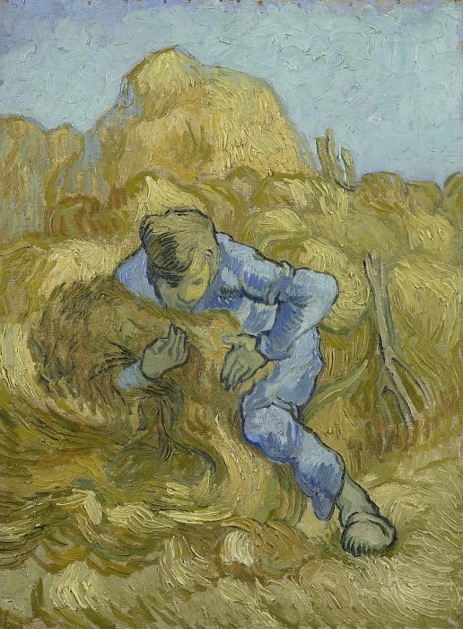 The Sheaf-Binder (after Millet). Vincent van Gogh