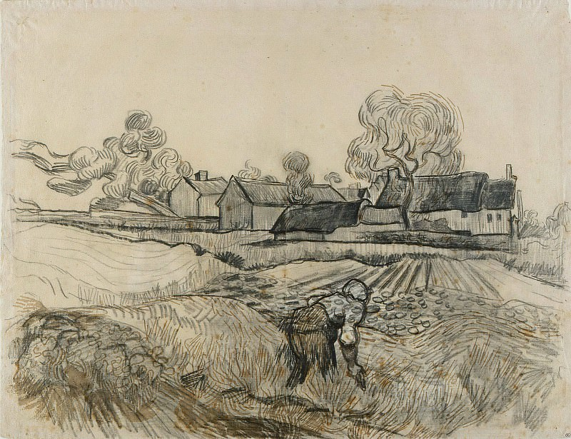 Farm of Pere Eloi. Vincent van Gogh