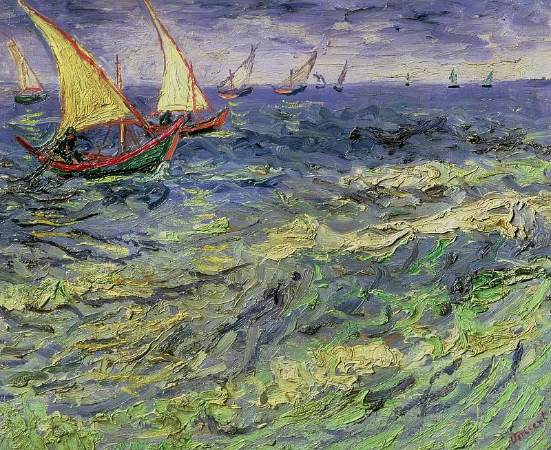 Морской пейзаж в Сент-Мари. Винсент Ван Гог