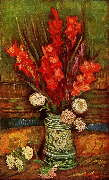 Vase with Red Gladiolas. Vincent van Gogh