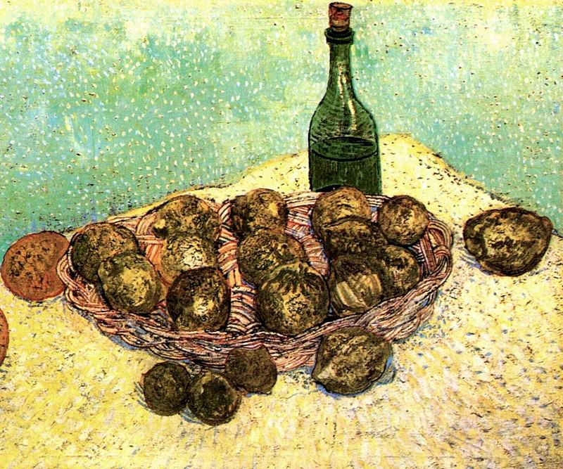 Bottle, Lemons and Oranges. Vincent van Gogh