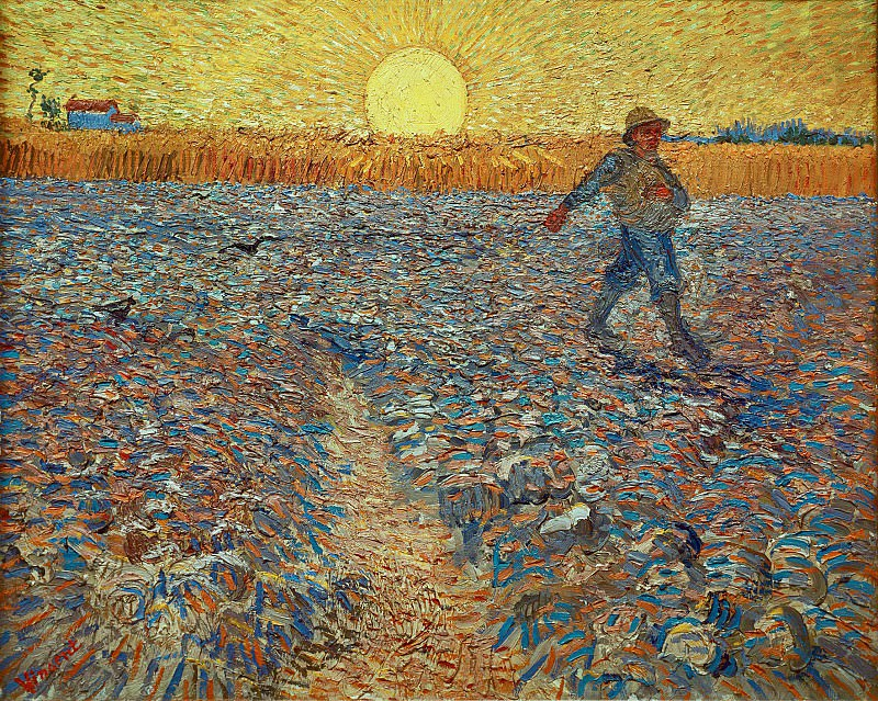 Sower (after Millet). Vincent van Gogh