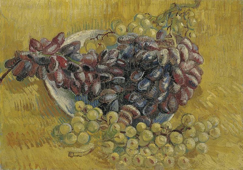 Still Life with Grapes. Vincent van Gogh