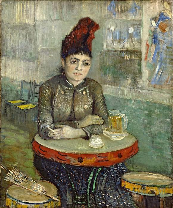 Agostina Segatori Sitting in the Cafe Tambourin. Vincent van Gogh