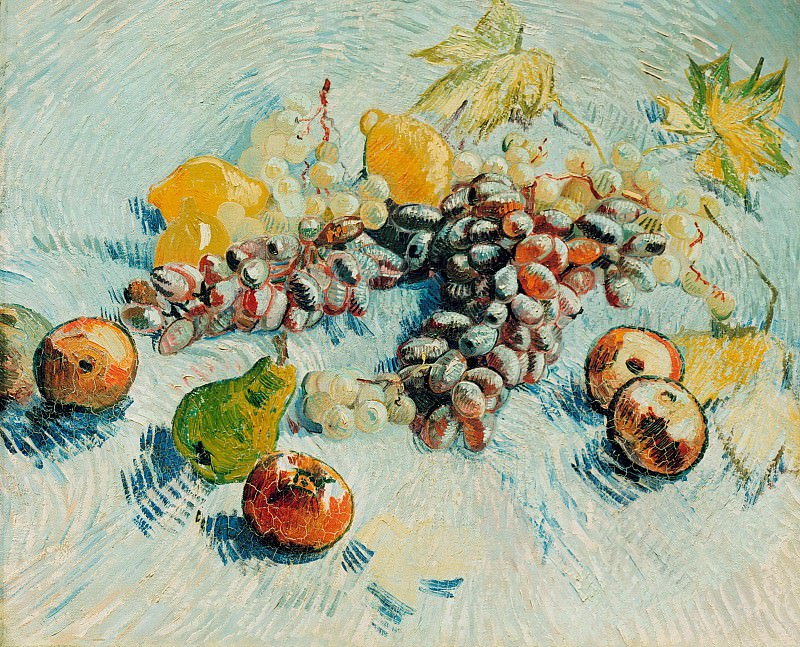 Still Life with Apples, Pears, Lemons and Grapes. Vincent van Gogh