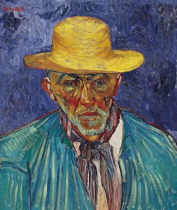Portrait of Patience Escalier, Shepherd in Provence. Vincent van Gogh