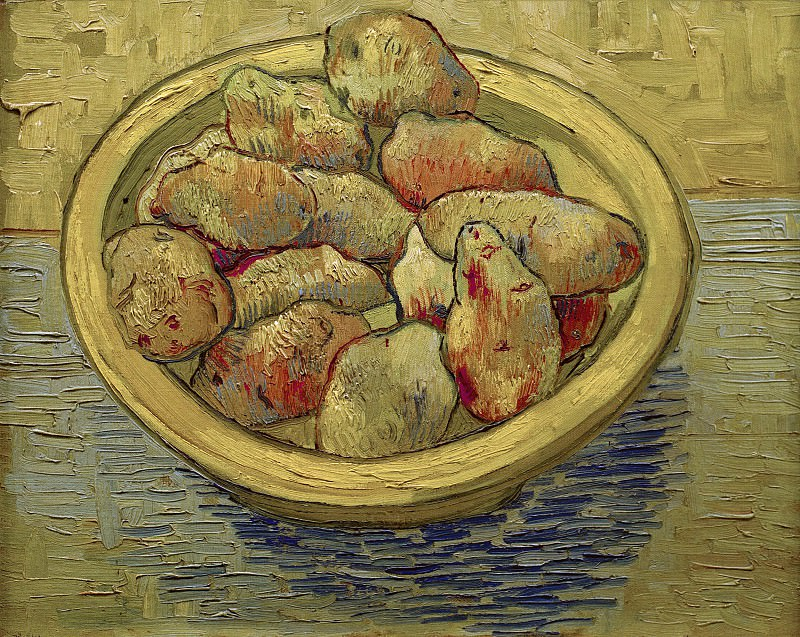 Still Life Potatoes in a Yellow Dish. Vincent van Gogh