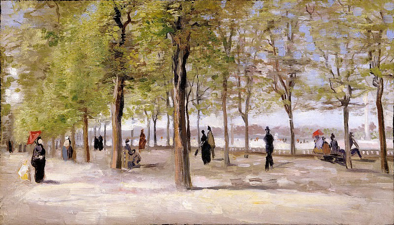 In the Jardin du Luxembourg. Vincent van Gogh