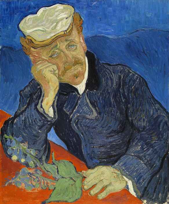 Portrait of Doctor Gachet. Vincent van Gogh