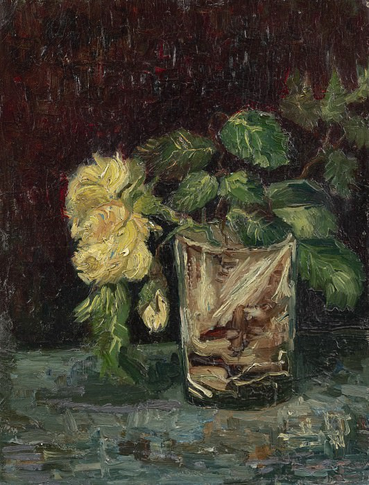 Glass with Roses. Vincent van Gogh