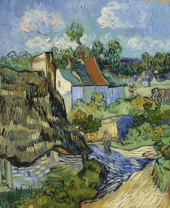 Houses in Auvers. Vincent van Gogh