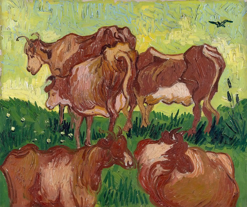 Cows (after Jorsaens). Vincent van Gogh